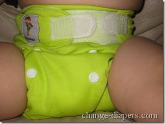 diaper on baby
