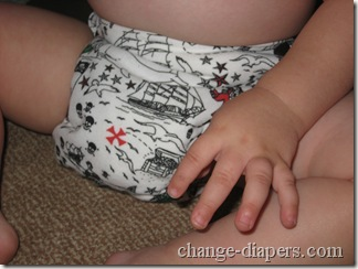 diaper front seated
