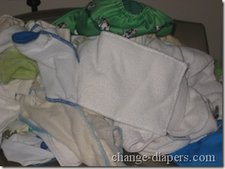 stinky diapers waiting to be washed in tide