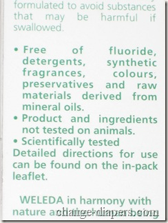 fluoride free infant toothpaste