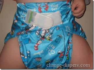 large bumkins diaper on 21ish lb baby