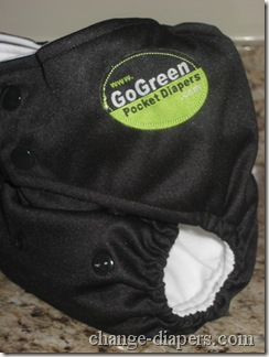 gogreen champ diaper small setting
