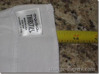 size 1 duo hemp prefold width pre-prepping