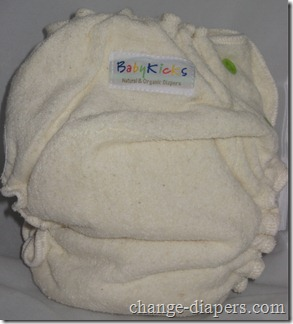 babykicks fitted cloth diaper rear