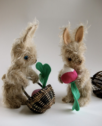 A Basket og bunnies for Easter