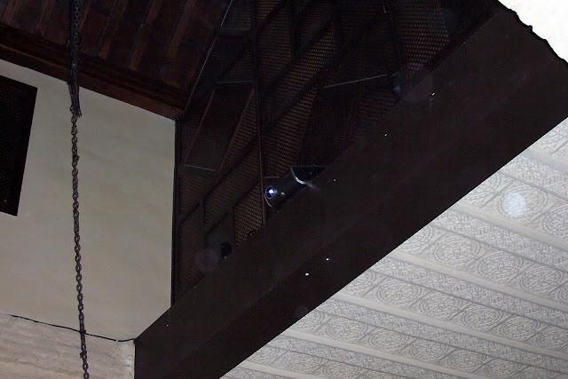 Detalle del coro y techo Puerta principal