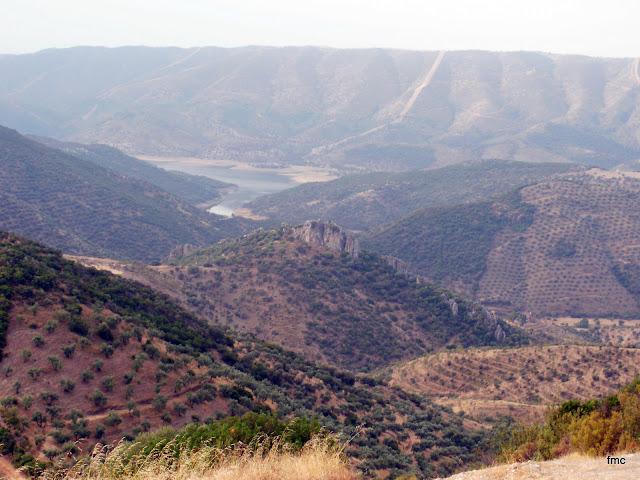 Vista de las colas del Pantano Guadalmellato