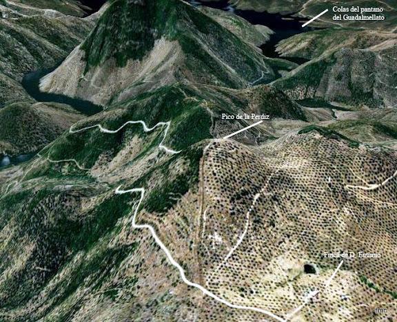 Vista de la zona desde Google.