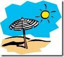 sole e ombrelllone