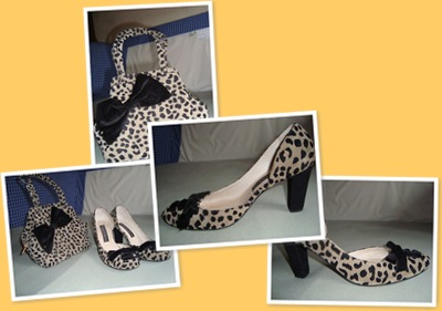 View Set pantofi + poseta animal print