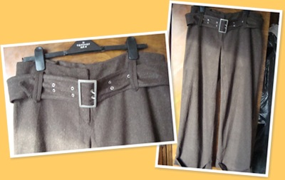 View Pantaloni din stofa de lina