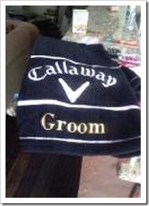 chris golf towel
