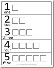 math worksheet : prek numbers shapes colors review  confessions of a homeschooler : Numbers 1 5 Worksheets For Kindergarten
