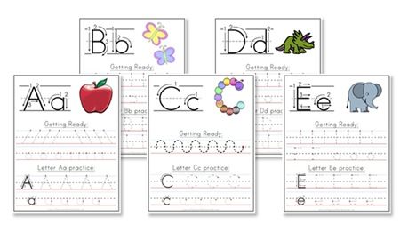 Printables Preschool Alphabet Worksheets A-z a z handwriting worksheets confessions of homeschooler zhandwritingpromo download the worksheets