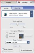 collage settings in picasa