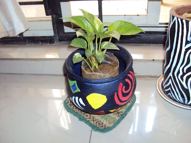 A KC Das Dahi Handi turns into planter