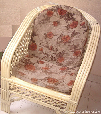 After painting - ivory cane chair