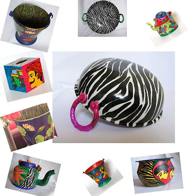 Kitsch Collection with Zebra Stripes