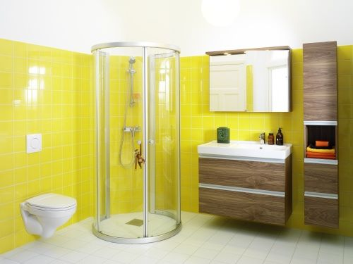 Wood complements the bright color