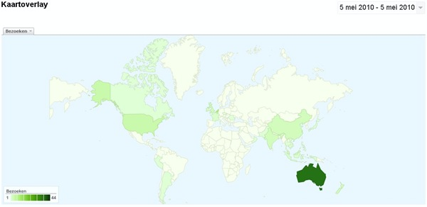 Tripadvisor map of visitors to Villa Sabandari, a new Bali holiday resort with yoga courses