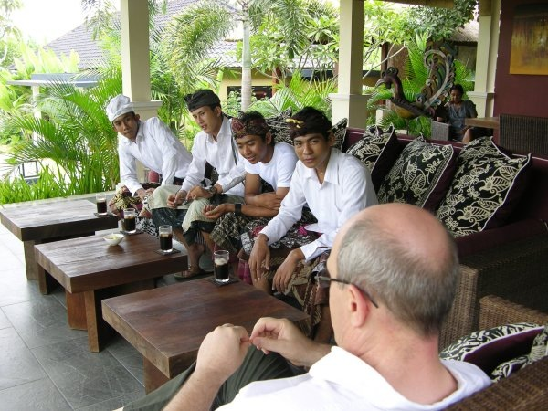 Saraswati meeting at Villa Sabandari, one of the newest hotel villas in Ubud Bali