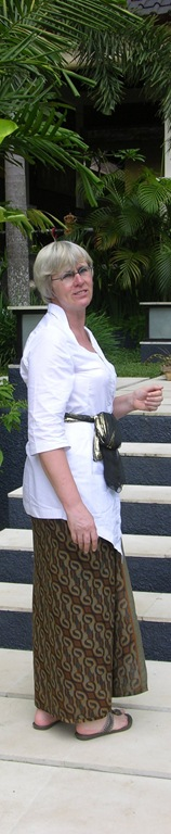 Tina in Villa Sabandari, one of the newest hotels in Bali Indonesia. A quiet Yoga meditation retreat with rejuvenating treatments on the island of Bali 
