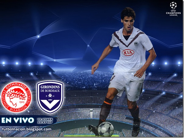 olympiacos vs bordeaux en vivo live
