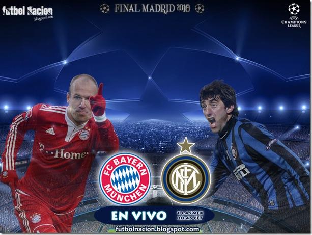 final uefa champions league en vivo bayern vs inter