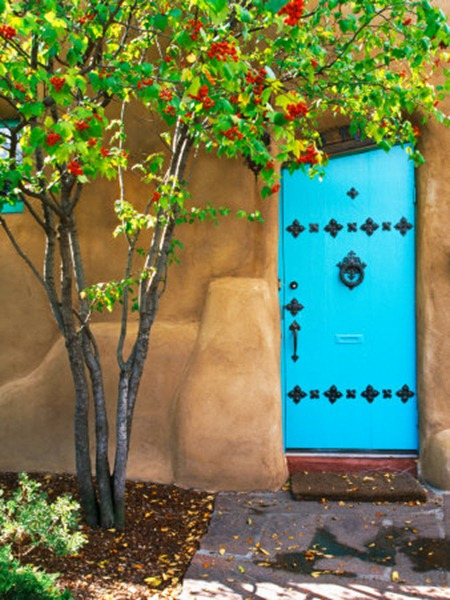 us32-tha0000turquoise-door-santa-fe-new-mexico-posters