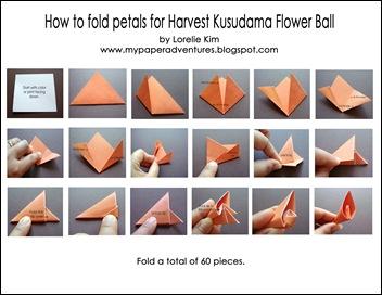 Origami Flower Ball Kusudama Instructions