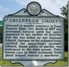 Greenbrier Ghost WV Marker