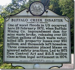 Buffalo Creek Disaster Marker in Man, WV