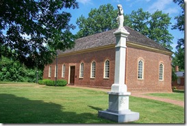 Little Fork Church with Little Fork Rangers Monument
