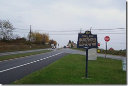 Forbes Road marker looking west on Route 30