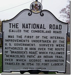 The National Road marker Cumberland, MD