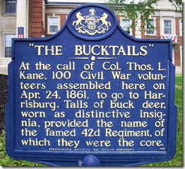 The Bucktails Marker  McKean County, PA