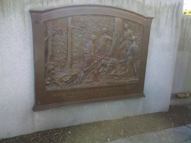 Kitson's plaque in memory of Brookline's Albert Edward Scott, youngest U.S. soldier to die in World War I