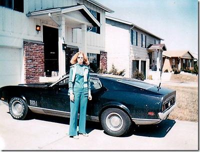 Donna & 71 Mach 1in 1978