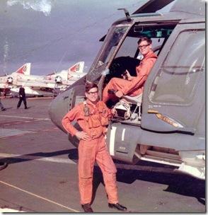 Sam & Doug Wainright USS Shangri-La1967b