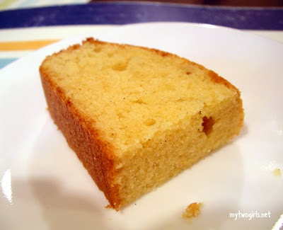 A slice of butter cake