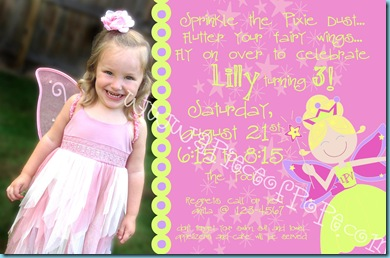 Fairy B-day Invite
