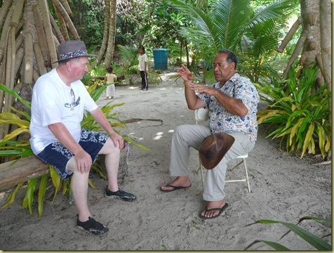President Nau shares stories with Elder Hawley