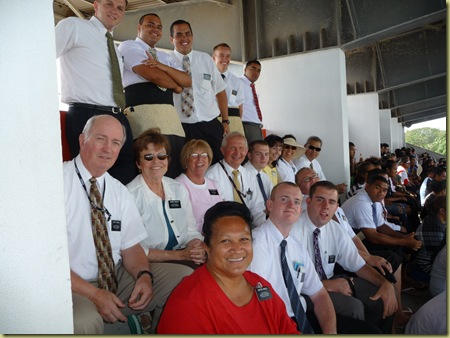 A missionary gathering at the Nuku'alofa games