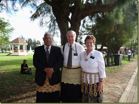 Area Authority Seventy Sione Fineanganofo visits with Elder and Sister Hawley
