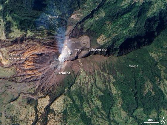 Volcan Turrialba Costa Rica From_Space