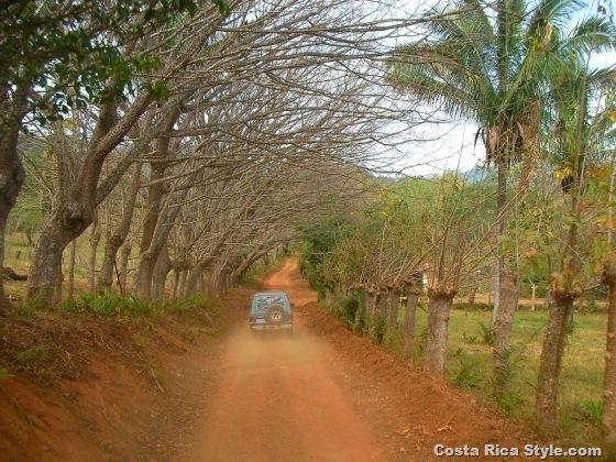 Costa Rica beach road
