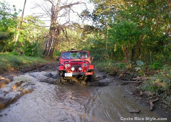 Costa Rica Red Jeep