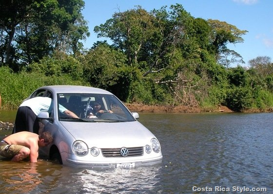 Costa Rica Stuck Car