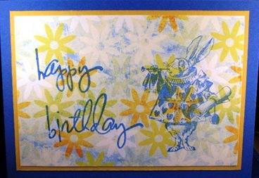 2010 04 LRoberts 30 Minute White Rabbit Birthday Card