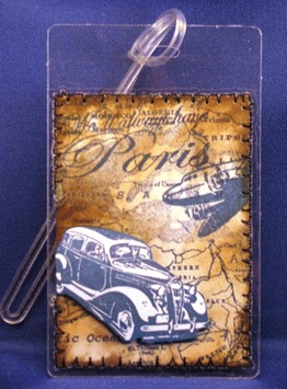 2010 08 LRoberts ATC Paris Luggage Tag